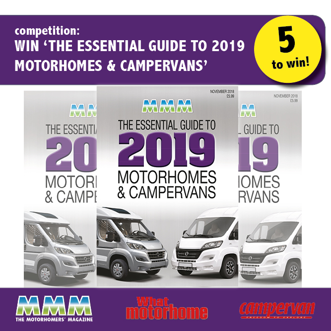 Win 'The Essential Guide to 2019 Motorhomes and Campervans