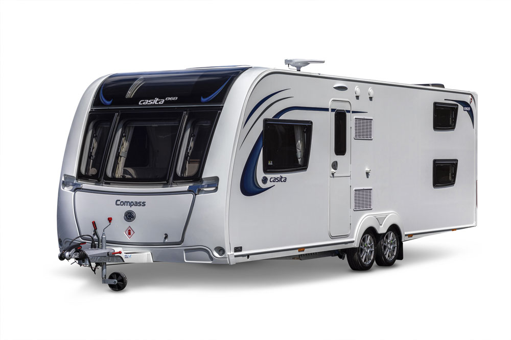 The Compass Casita 868 caravan