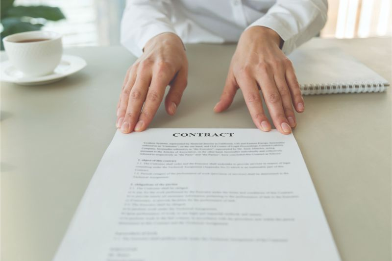 reading the small print in a contract