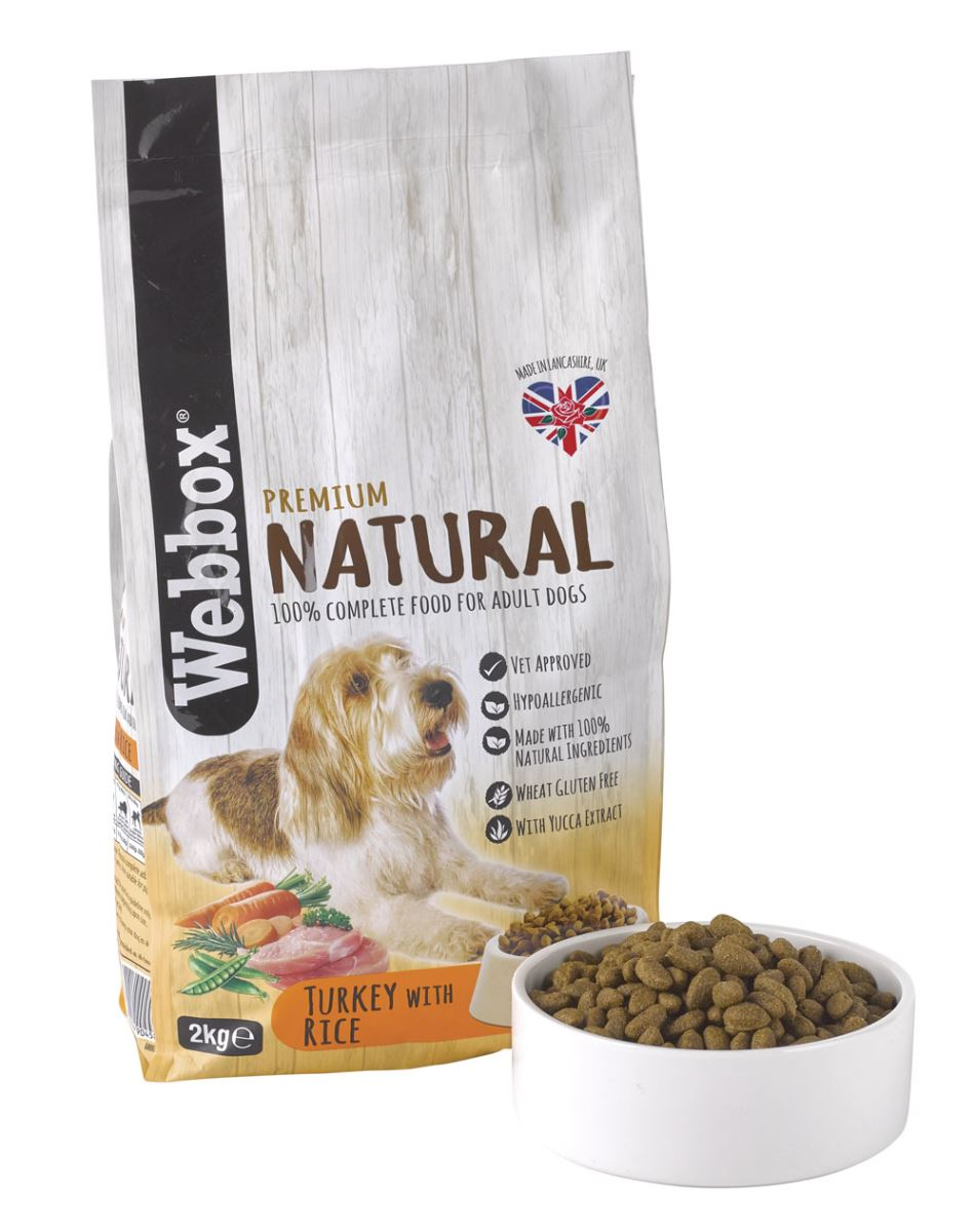 Webbox Natural Turkey & Rice Complete Dry Dog