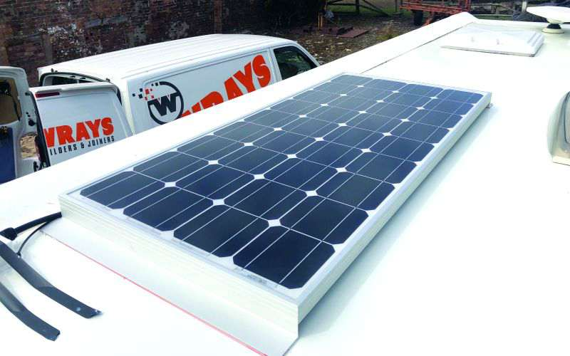 the fitted solar panel