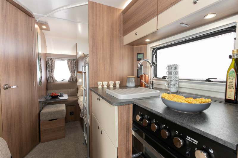 Bunk beds in a caravan