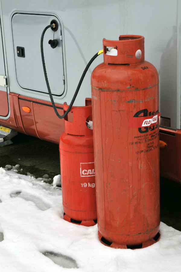 Gas bottles for caravan heating