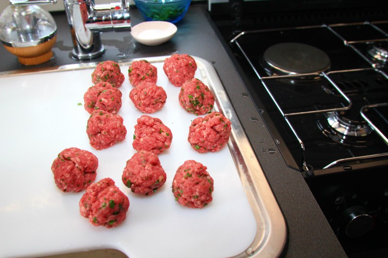 meatballs made before cooking