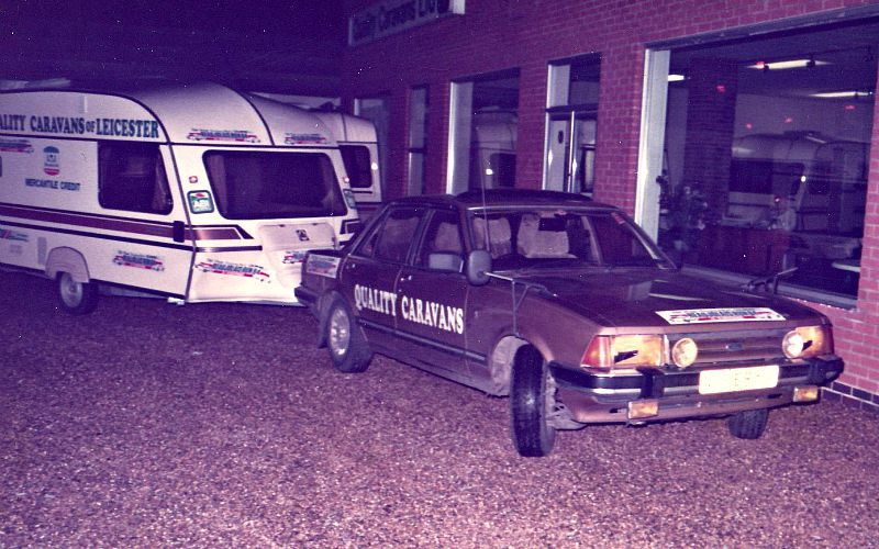 Ford Granada towing a 1984 Ace Diplomat