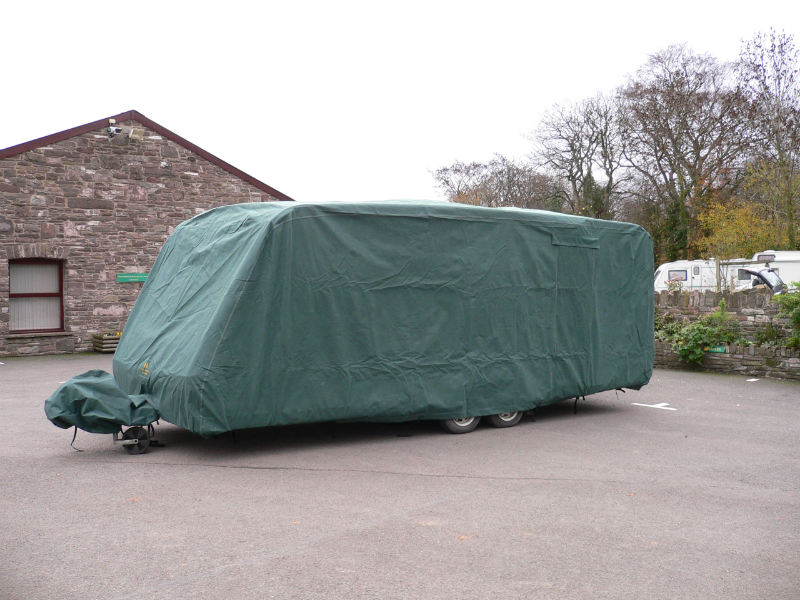 Caravan with a cover