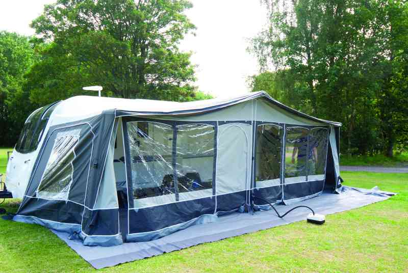 Dorema Air Horizon Air Awning - constructed