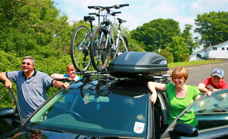 roof box and bike rack