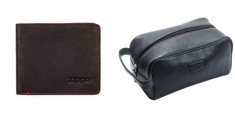 Zippo wallet and toiletry bag