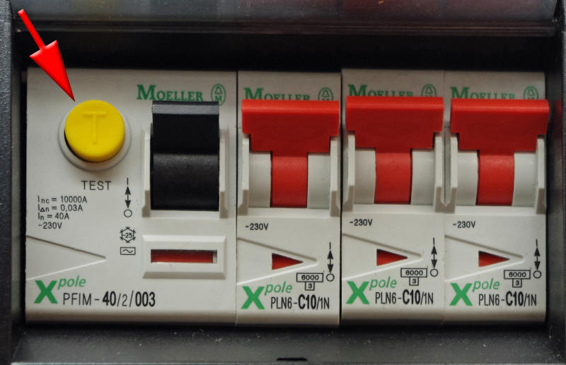 rcd button - caravan electrics