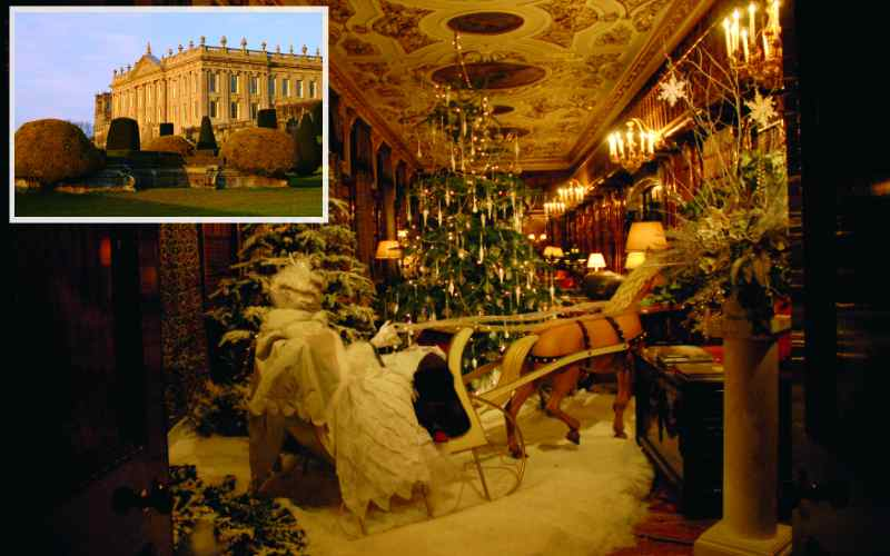 Chatsworth House at Christmas