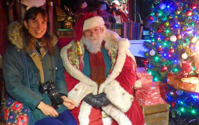 Susie Kearley with Father Christmas