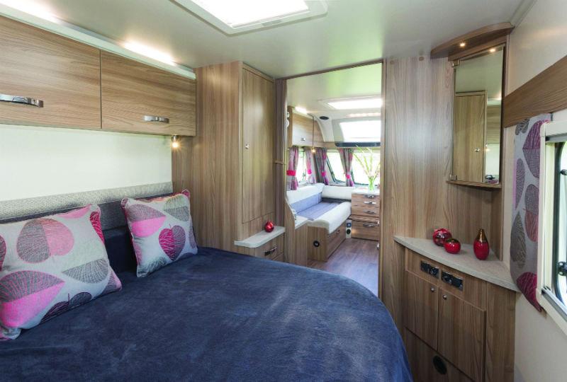 fixed beds in a caravan