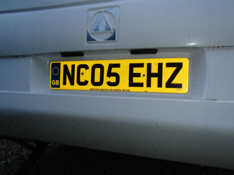 new number plate for your caravan
