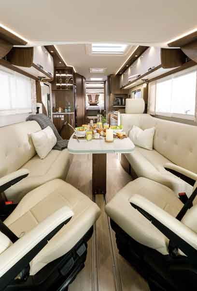 As With All New 2019 Models, Standing Room Throughout Is 2.03m And The Two  Rear Single Beds Are Available In Extra Long 2.10m Versions.