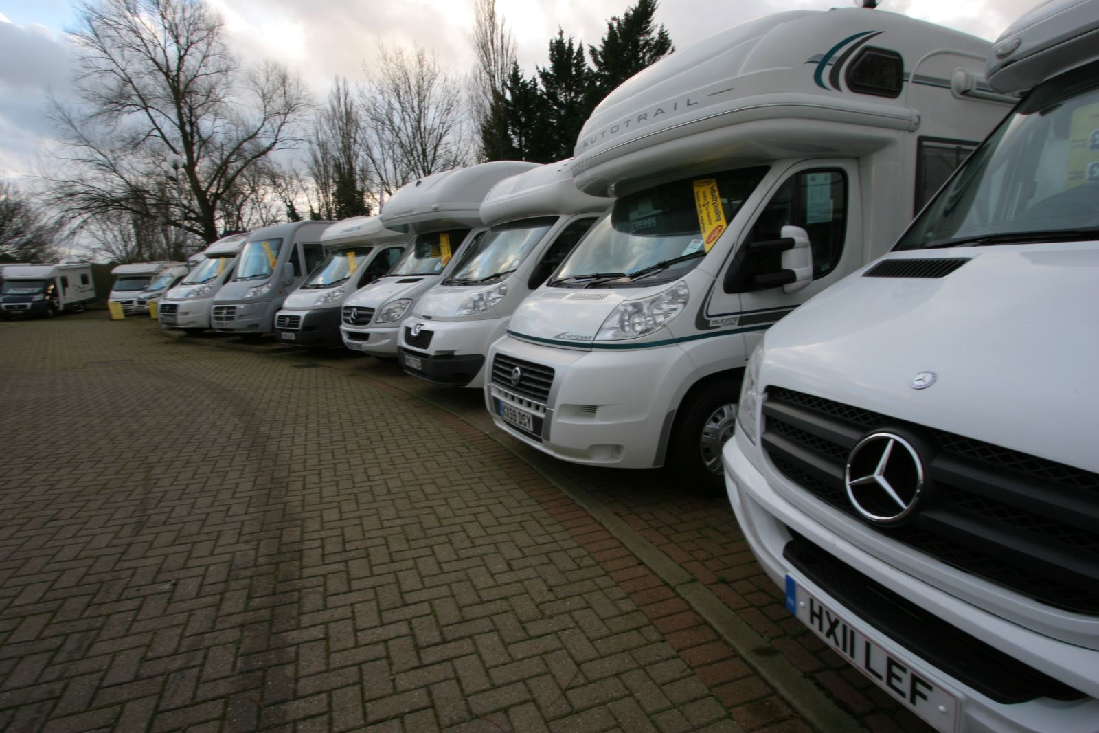 Motorhome dealer forecourt