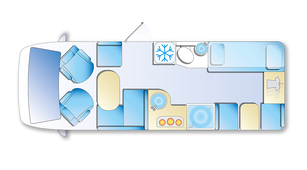 Bunk bed layout