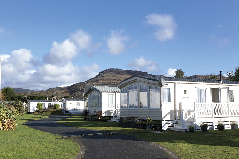 Just occasionally used holiday homes come up for sale at this park, Garreg Goch, in Wales