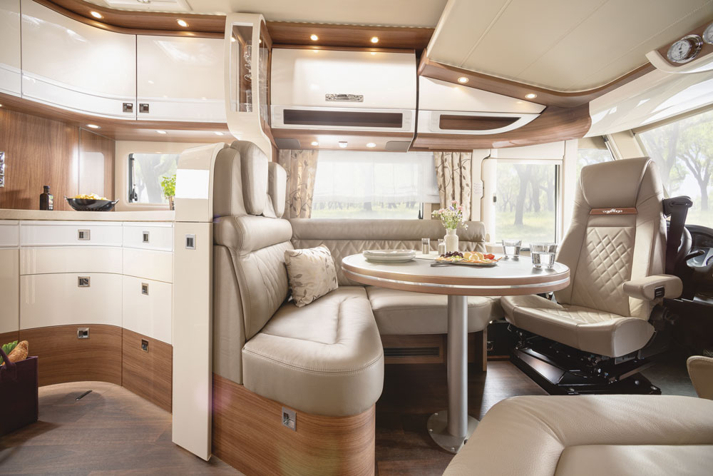 Interior of the Carthago Chic e-line motorhome