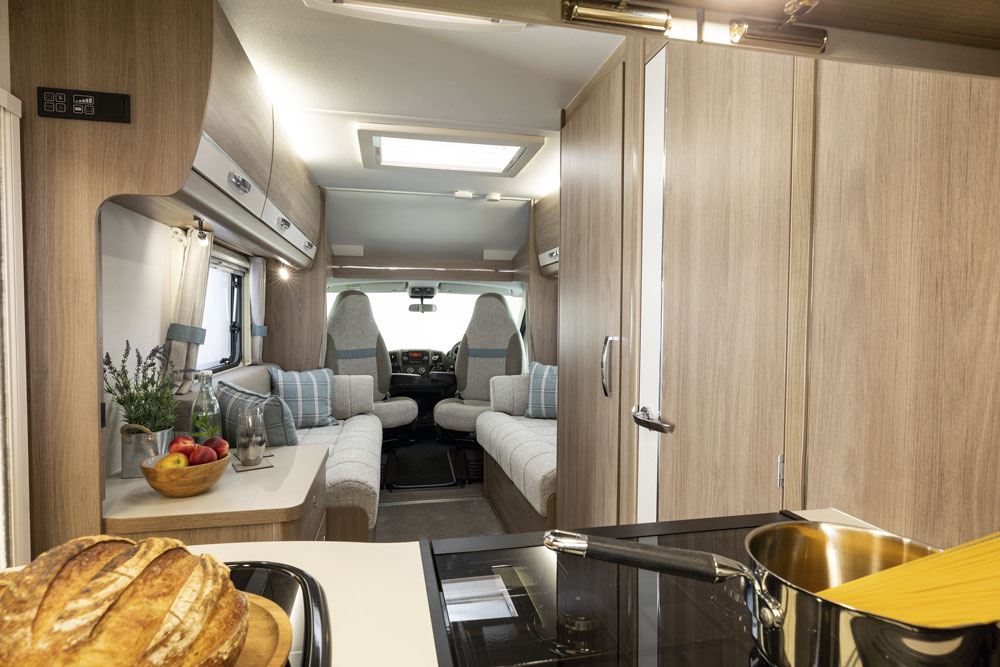 Interior view of the Compass Avantgarde CV60 motorhome