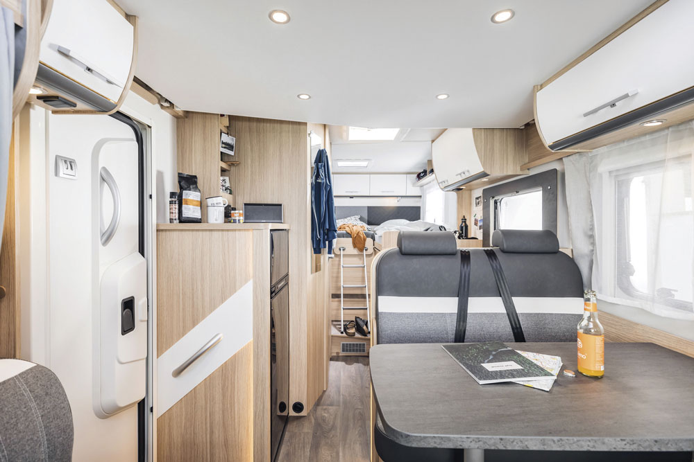 The interior of the Sunlight T 67 S motorhome