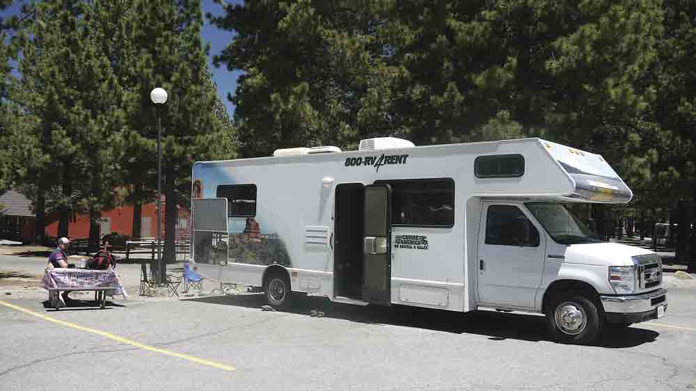Image of a large American RV-style campervan