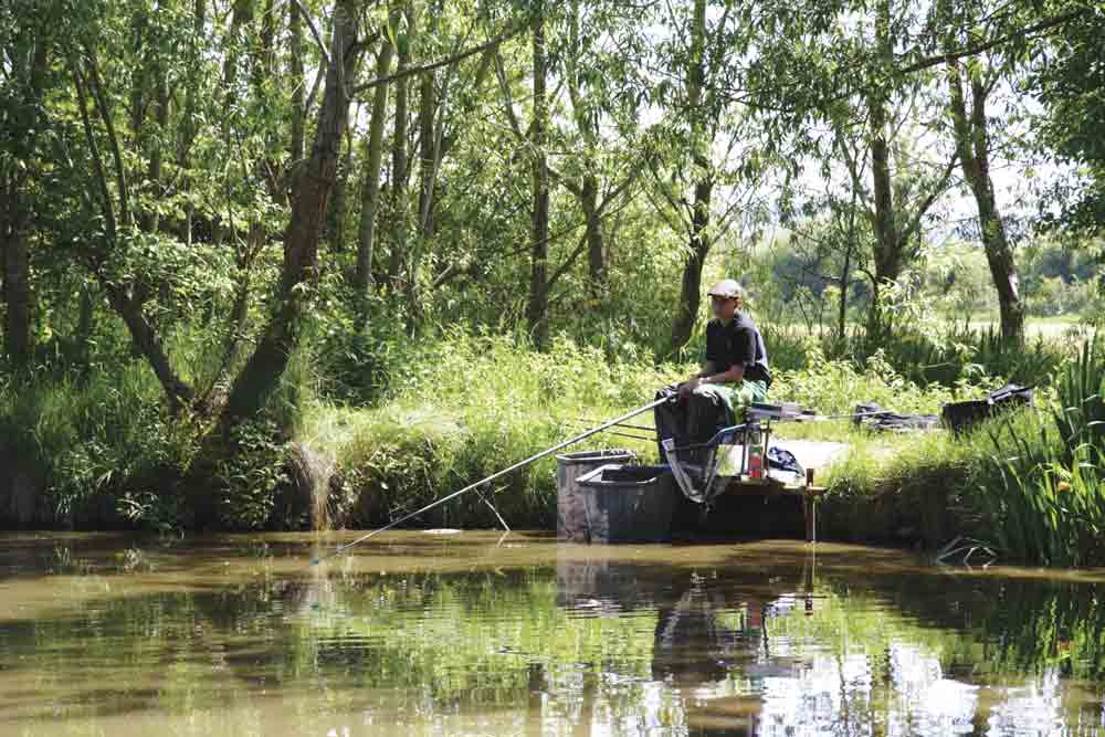 Image of a person fishing at Bullock Farm, Somerset