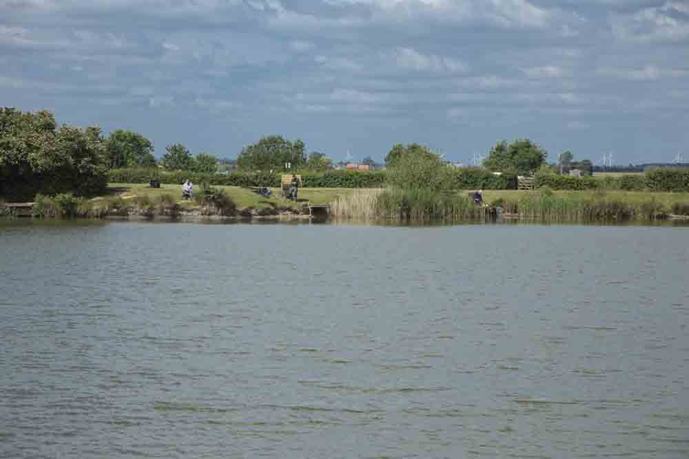 Image of the fishing lakes at Fields End Water Caravan Park in Cambridgeshire
