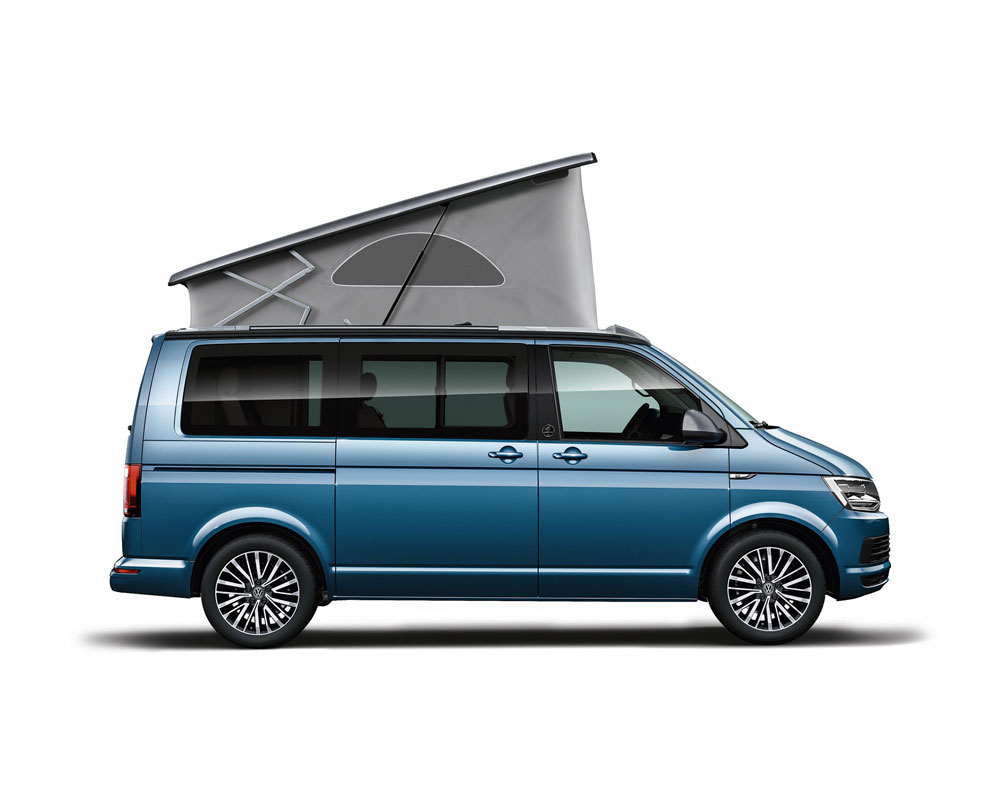 Image of a typical campervan with an elevating roof