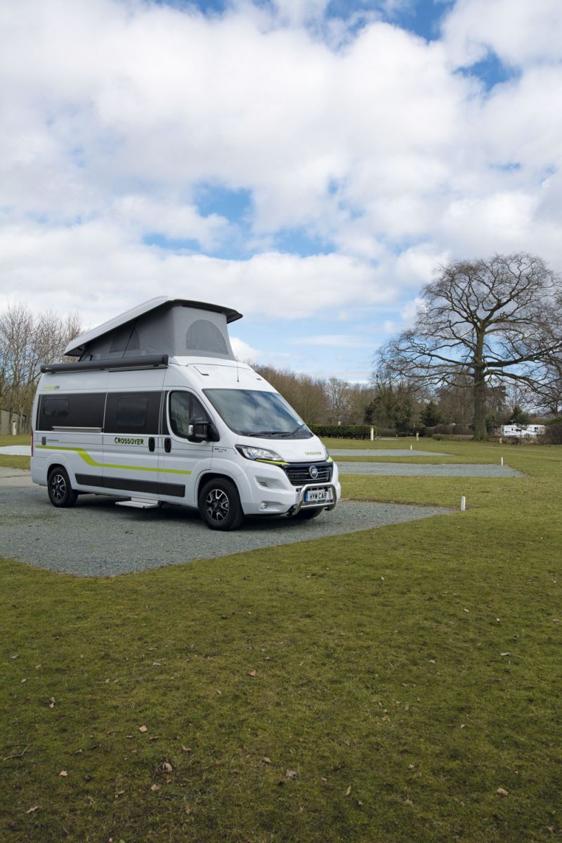 Image of a van conversion campervan with an elevating roof