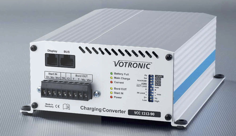 Image of a Votronic battery to battery charger