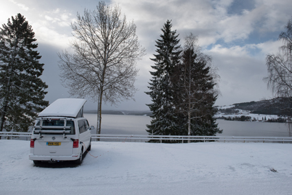 Follingstua Camping in the snow