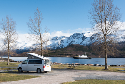 Furoy Camping near the ferry