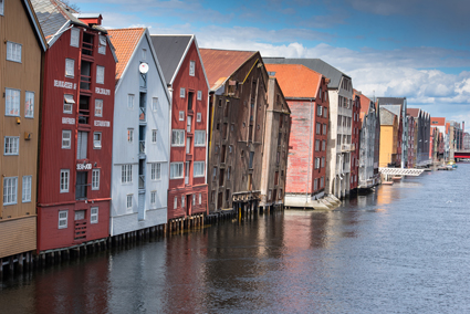 Trondheim's Wharves - characteristic of many of the buildings in Norway