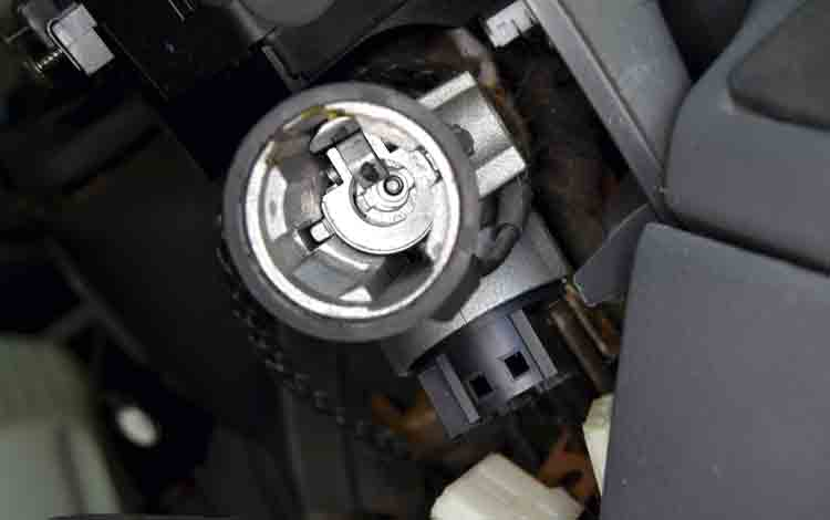 Ducato steering lock image - coil and barrel housing