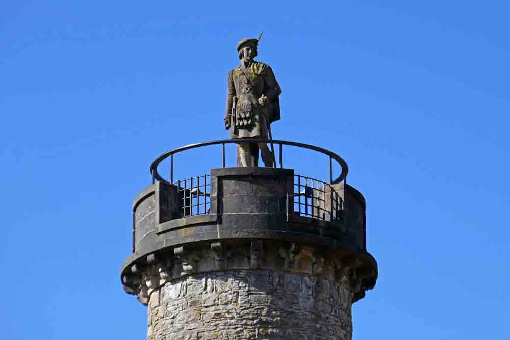 Image of the Bonnie Prince Charlie monument at Glenfinnan