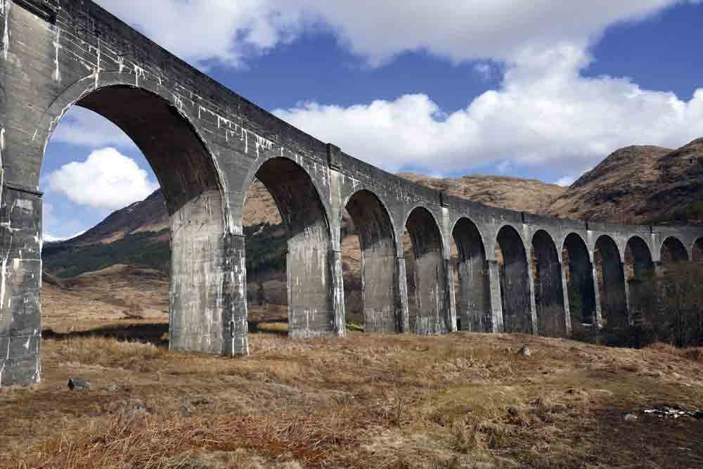 Image of the viaduct at Glenfinnan, which featured in the Harry Potter films