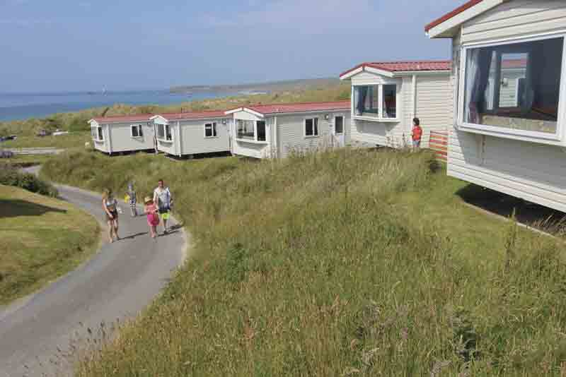 Image of static caravans at St Ives Bay Holiday Park in Cornwall
