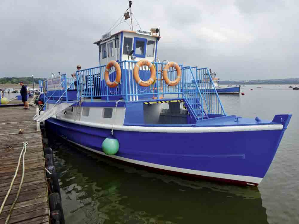 The MV Orcombe ferry