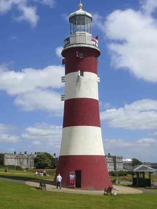Image of Smeaton's Tower lighthouse in Plymouth, Devon