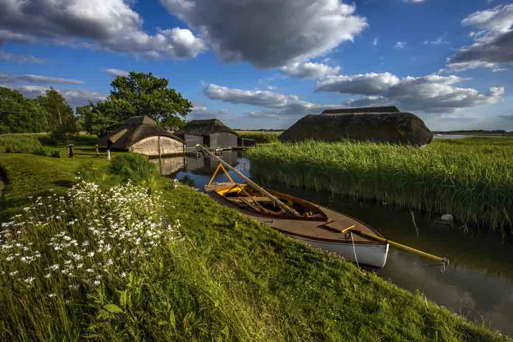 Image of a boat on the Norfolk Broads