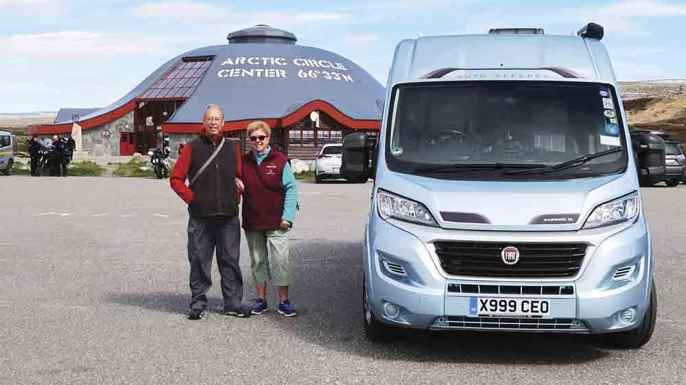Image of Lois and Alan Parker with their campervan