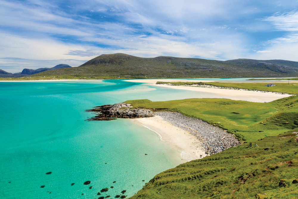 Beautiful beaches on West Harris