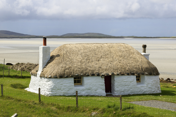 One of the croft houses on North Uist