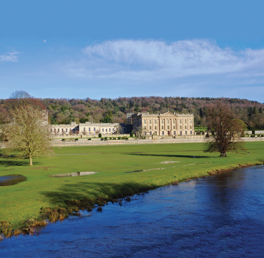 Looking over to Chatsworth House