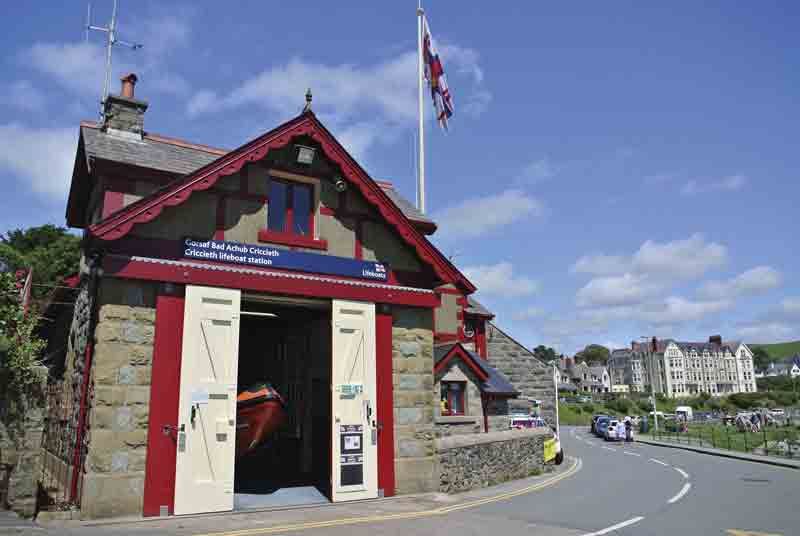 Image of the lifeboat station at Criccieth near Snowdon