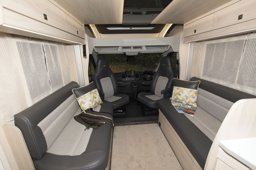 Interior of an Auto-Trail Tribute F60 motorhome