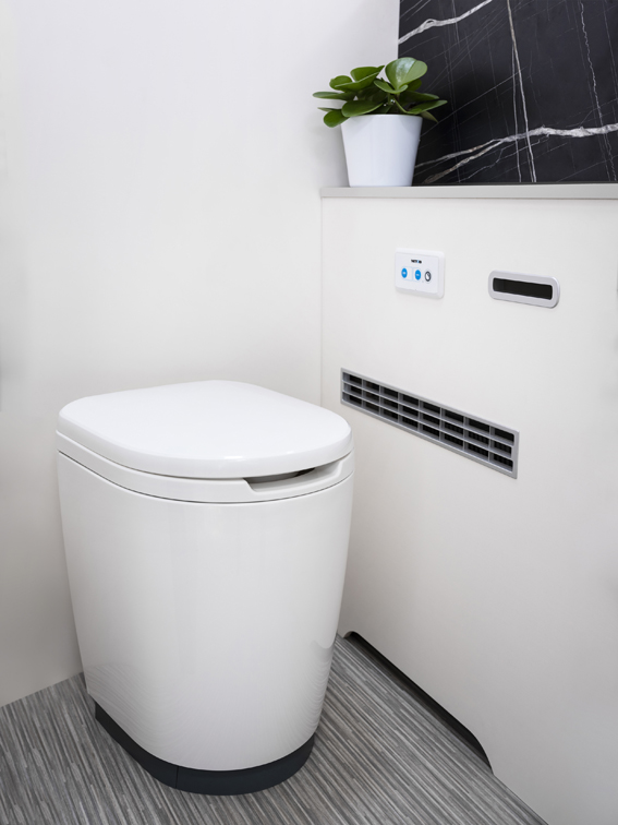 Thetford's new toilet for the iNDUS smart sanitation system