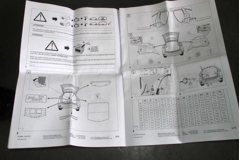 Witter towbar instructions