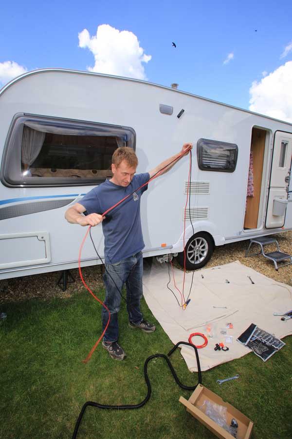 Ledningsnett for campingvogn
